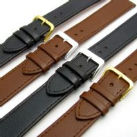 Comfortable Flexible Extra Long XL Leather Watch Strap Buffalo grain 16mm - 22mm
